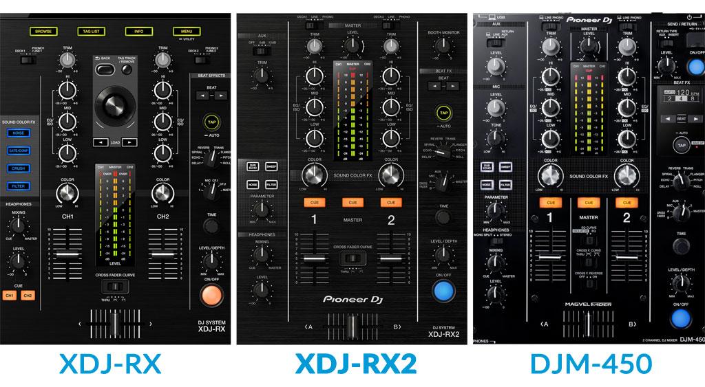 XDJ-RX2 vergelijking