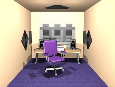 Auralex Alpha DST studio set bordeaux