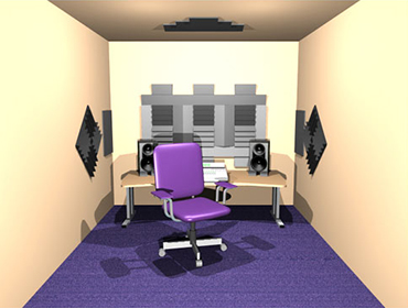 Auralex Alpha DST studio set paars