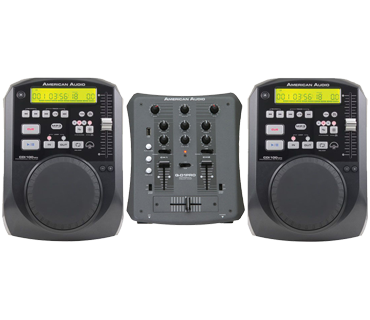 American Audio DJ set 2 x CDI-100 MP3 + Q-D1 Pro USB