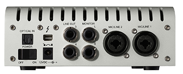 Univeral Audio Apollo Twin achterzijde
