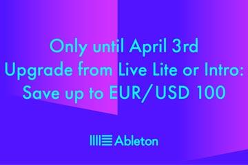 Tot €100 korting bij Ableton Upgrades